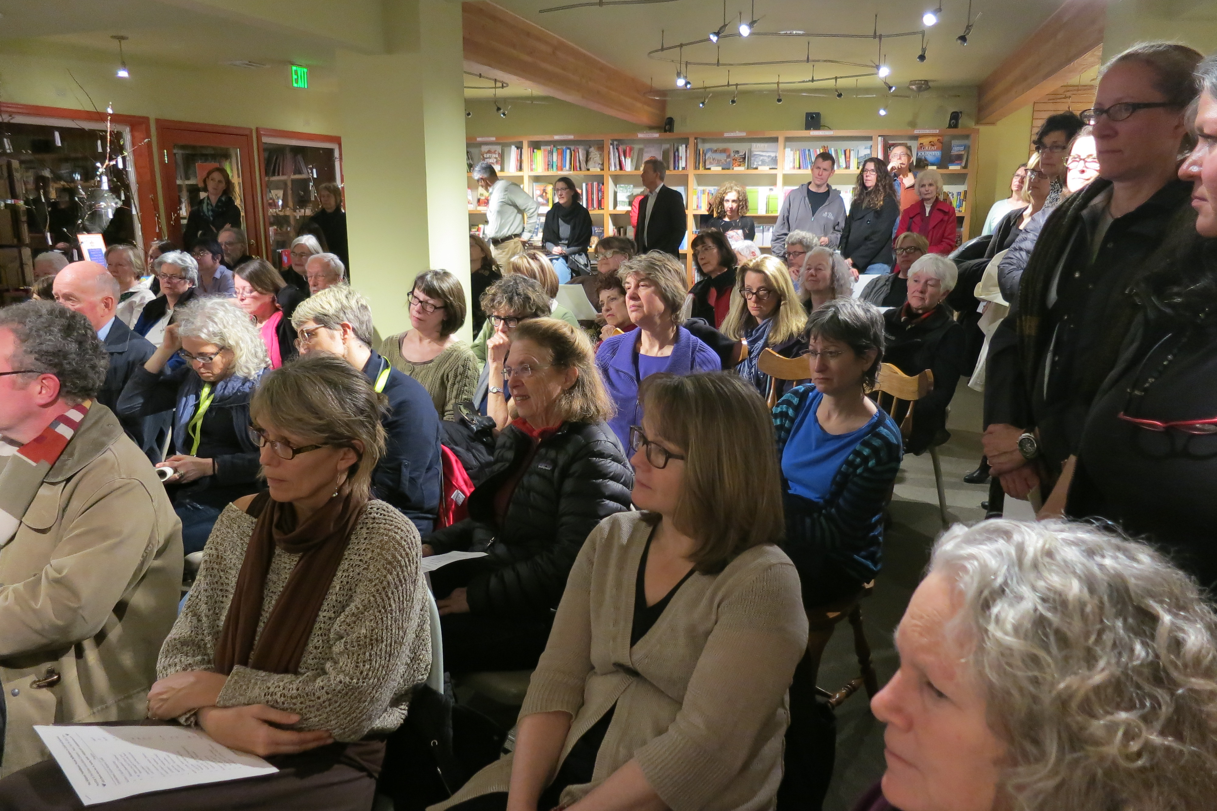 Audience at Queen Anne Bookstore reading