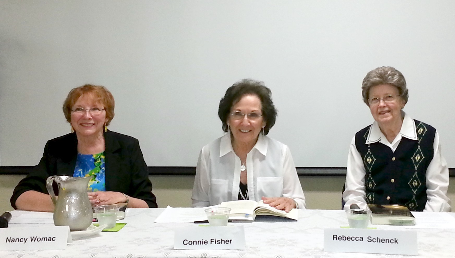 Nancy Womack, Connie Fisher, and Rebecca Schenck